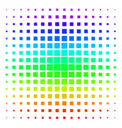Filled square rounded shape halftone spectrum grid vector