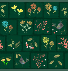 floral modern seamless pattern with flowers vector image