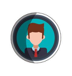 Frame businessman faceless picture vector