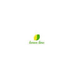 fresh fruit lemon lime combination for beverage vector image