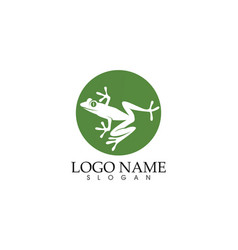 Frog green symbols logo and template icons app vector