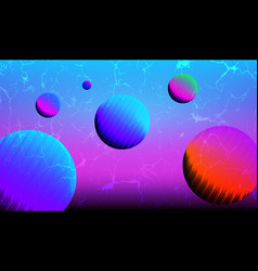 Futuristic synthwave and retrowave background vector