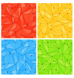 geometric mesh seamless patterns vector image