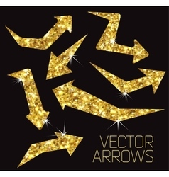 Gold arrow icon vector