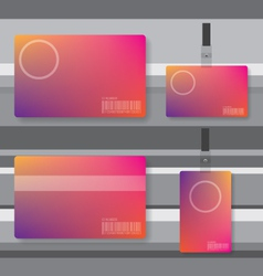 Id card abstract vector