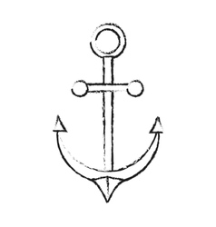 Isolated anchor design vector image