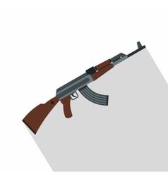Kalashnikov gun icon flat style vector