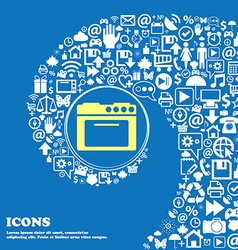 kitchen stove icon Nice set of beautiful icons vector image