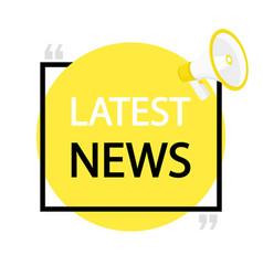 latest news megaphone label vector image