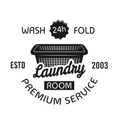 laundry room dry cleaning service emblem vector image