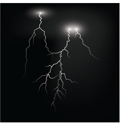 Lightening and thunder bolt or electric glow and vector