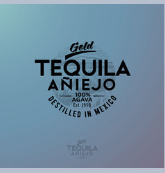 Logo gold tequila agave vector