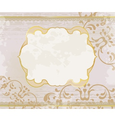 Lucid gold frame background vector