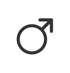 male symbol isolated science icon vector image