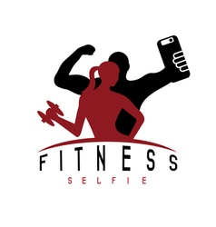 Man and woman of fitness silhouette character make vector