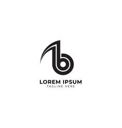 Minimal letter b alphabet music logo design vector