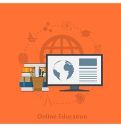 Online education vector