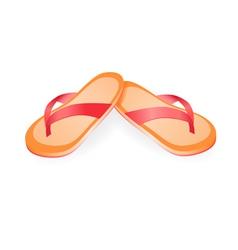 Pair of flip-flops vector image