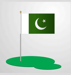Pakistan flag pole vector