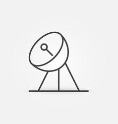 parabolic antenna receiver concept linear vector image