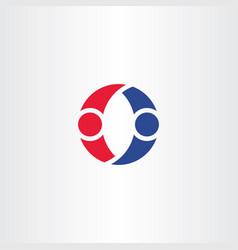 people dancing logo letter o symbol design element vector image