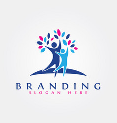 people logo design for business vector image