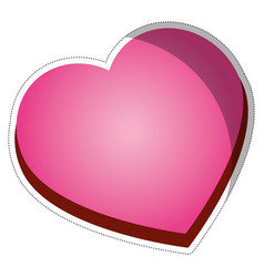 Pink heart icon vector
