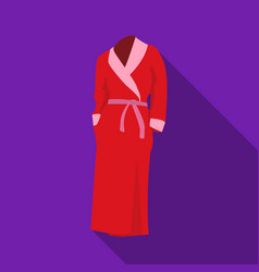 pink lady s gown after bath home clothes for vector image