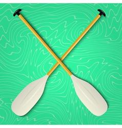Professional canoe oars vector
