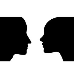 profiles woman and man vector image