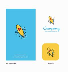 rocket company logo app icon and splash page vector image