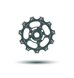 Roller for bicycle vector