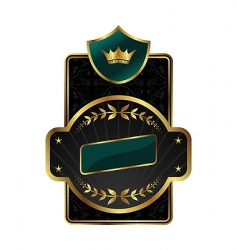 royal label with golden frame vector image vector image
