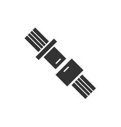 Seat belt icon flat vector