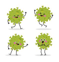 set cartoon images funny viruses vector image