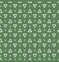 Simple seamless pattern abstract triangles vector