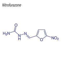 Skeletal formula nitrofurazone antimicrobial vector