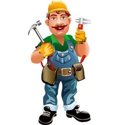 Smiling plumber vector
