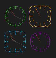 square and round dials with arrows vector image