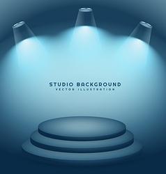 Studio background with podium vector