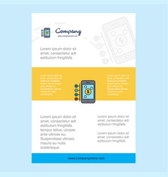 template layout for money through smartphone vector image
