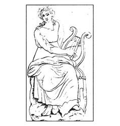 Terpsichore vintage vector