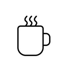 thin line hot cup icon vector image vector image