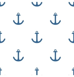 Tile sailor pattern with blue anchor on white vector
