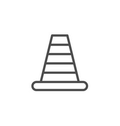 traffic cone line outline icon vector image