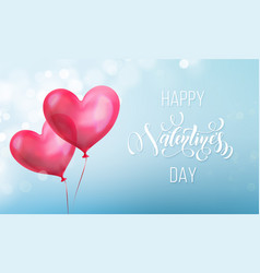 valentines day calligraphy lettering text on vector image