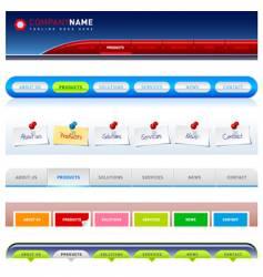 web menu vector image