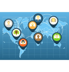 World social network scheme vector image