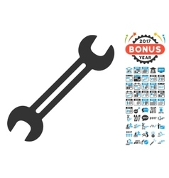 Wrench Icon With 2017 Year Bonus Pictograms vector