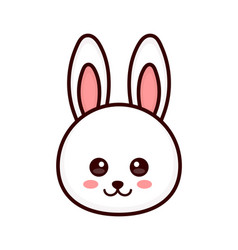 cute bunny rabbit face modern vector image vector image